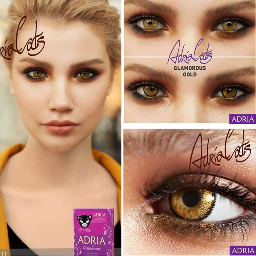 Цветные линзы Adria Glamorous Golg