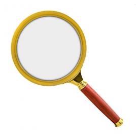 Лупа Kromatech круглая с деревянной ручкой (6 крат)